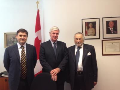 L'ambasciatore canadese in Italia: prima visita nella sede udinese del consolato onorario