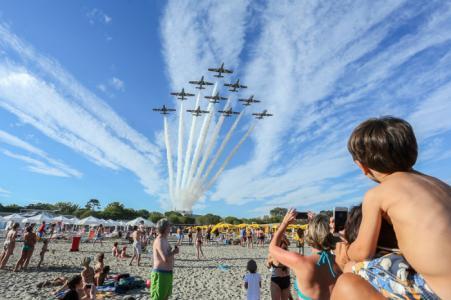 Torna a Grado lo spettacolare air show acrobatico della PAN Frecce Tricolori. Le foto
